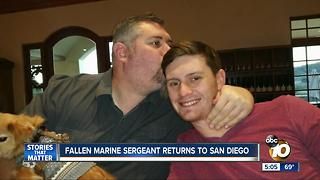 Fallen Marine Sergeant returns to San Diego - Video
