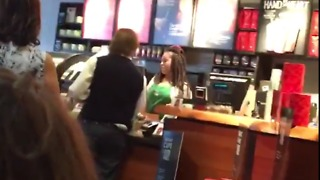 Trump Voter Accuses Black Starbucks Worker of 'Discrimination,' Calls Her 'Trash' - Video