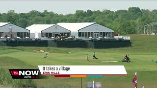 USGA turns Erin Hills into a small city - Video
