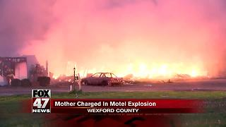 Women hurt in motel blast faces drug, child abuse charges - Video
