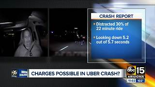 Backup Uber driver watching TV before fatal crash - Video