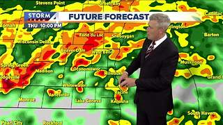 Another round of storms Thursday night - Video