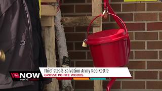 Thief steals Salvation Army Red Kettle - Video