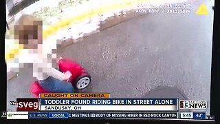 National: Toddler found riding bike in street alone