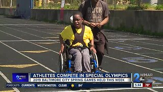 Athletes compete in Special Olympics in Baltimore