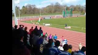 Relay Runner Falls Over After Completing Stunning From-Behind Win - Video