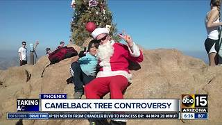 Camelback Christmas tree controversy - Video