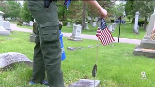 Local eagle scout honors veterans