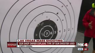 Fox 4 reporter demonstrates how Vegas gun may have worked - Video