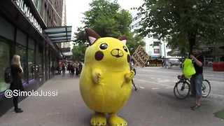 Finnish Comedian in Pikachu Costume Complains About Pokemon Go - Video