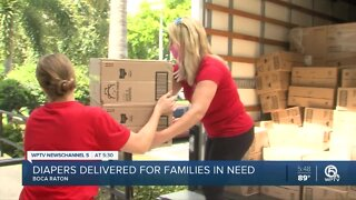 Moving company delivers 280K diapers to Junior League of Boca Raton