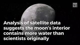 Newly-Discovered Water On Moon Could Aid Future Missions - Video