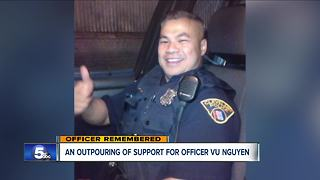 An outpouring of support for Officer Vu Nguyen - Video