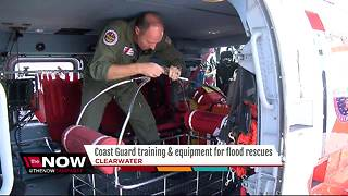 Coast Guard training, equipment for flood rescues - Video