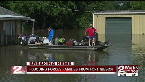 Flooding forces families from Fort Gibson