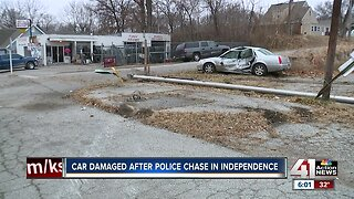 Independence police chase causes damage-responsibility confusion