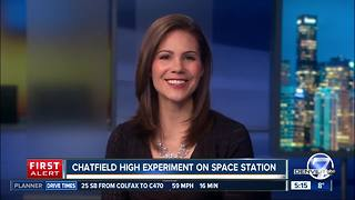 Local students experiments on space station