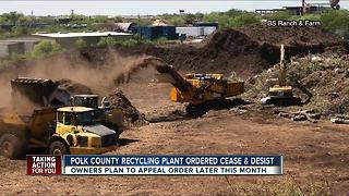 Polk Commissioners threaten to go to court with a Lakeland recycling plant - Video