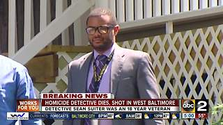 Baltimore homicide detective dies after being shot while on-duty - Video