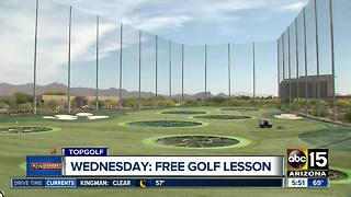 Get free golf lessons at TopGolf on Wednesday - Video