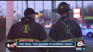 1 dead, 2 others hospitalized after serious crash on Indy's north side - Video