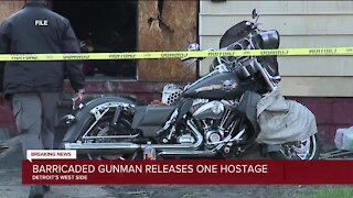1 hostage released in ongoing Detroit police standoff at home on city's west side