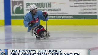 Sled hockey stars from Team USA's development program visits Michigan for training camp - Video