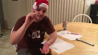 Wrist Cyst Guy Conquers Candy Cane Challenge - Video
