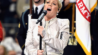 Pink Defends Her Super Bowl National Anthem Performance - Video