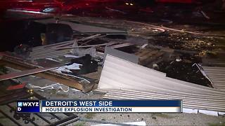 Detroit home leveled by explosion, cause unknown - Video