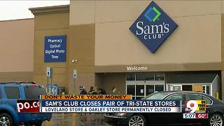 Customers react as two Sam's Club stores abruptly close - Video