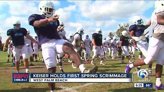 Keiser holds first spring scrimmage - Video