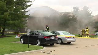 Fire rips through Broadview Heights condo - Video
