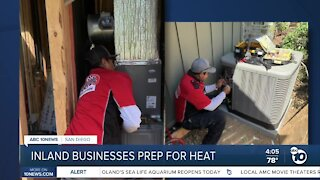 Inland businesses preparing for heat wave