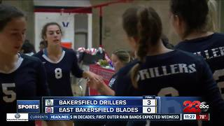 Girls Volleyball: Bakersfield High sweeps East Bakersfield, 3-0 - Video