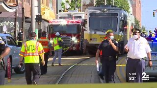 One dead, child and others rescued following Light Rail collision in downtown Baltimore