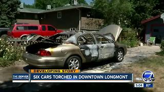 Six arsons reported within 90 minutes overnight in downtown Longmont - Video