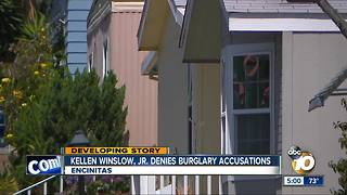 Kellen Winslow, Jr. denies burglary charges - Video