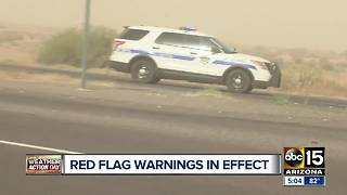 Blowing dust impairing road conditions around the Valley - Video