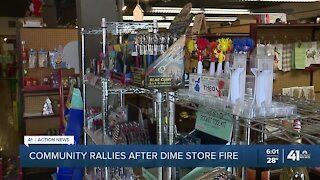 Brookside community rallies after fire damages Dime Store