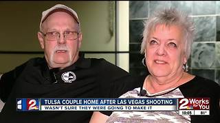 Tulsa couple reunited with family after being in the middle of Vegas shooting - Video