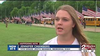 Veterans' flags line Floral Haven for Memorial Day - Video