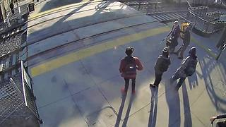 Good Samaritan saves blind man from walking in front of train at RTD station - Video