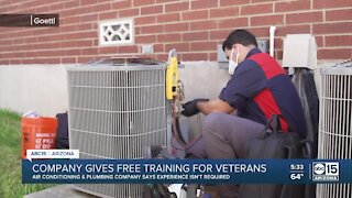 Goettl offers free training for veterans to get into a new career field