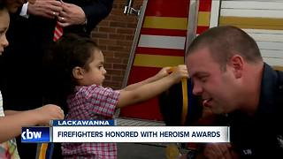 Firefighters honored for saving two children - Video