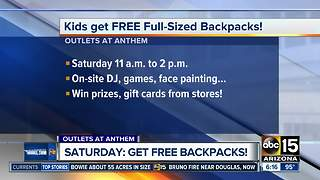 Get FREE backpacks on Saturday