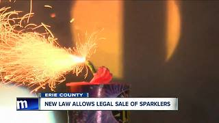 Certain fireworks now legal to buy in Erie County - Video