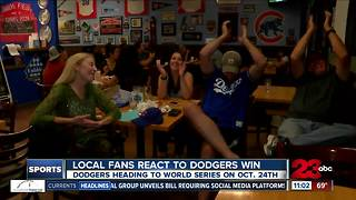 Local Dodgers fan react over NCLS game 5 win - Video