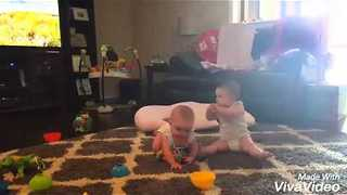 Twin Babies Communicate Through Own Special Language - Video