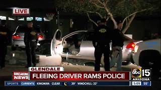 Suspect crashes after fleeing from officers, ramming patrol car - Video